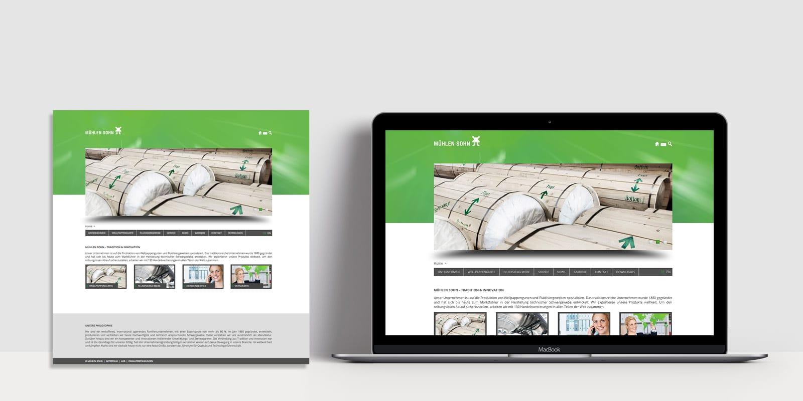 Mühlen Sohn – Website