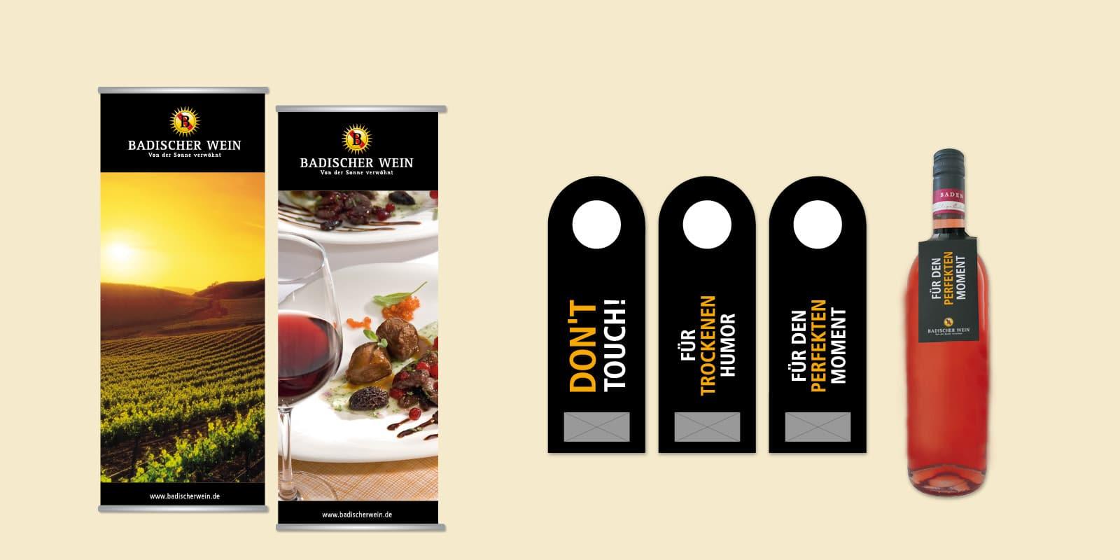 Badischer Wein – Roll Ups & Give aways