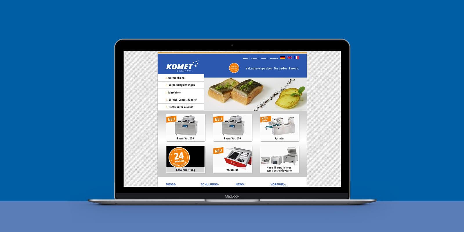 Komet – Website