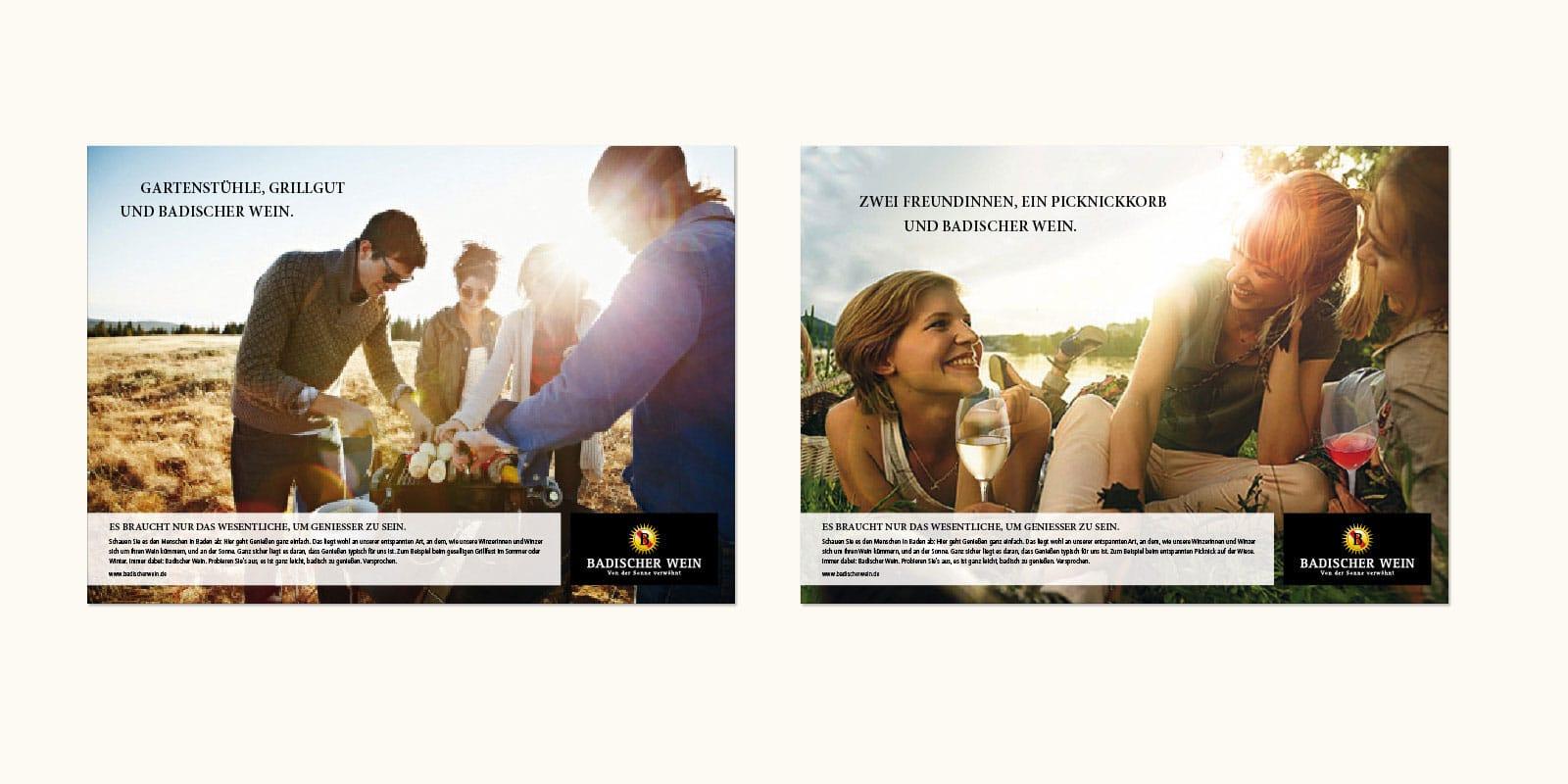 """Badischer Wein – Wettbewerbspräsentation """"Wesentlich"""""""