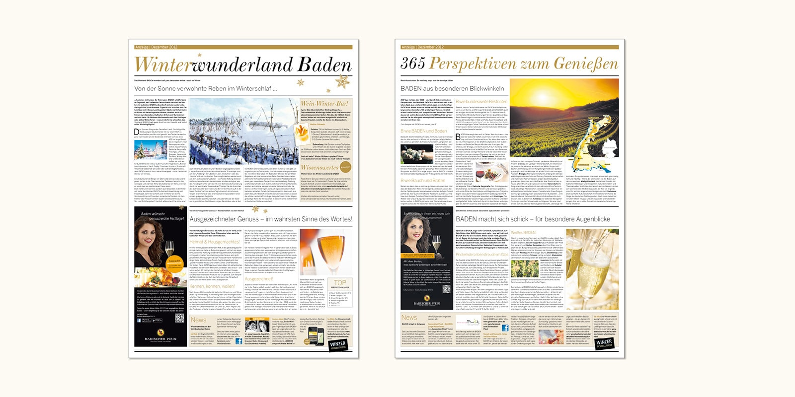 """Badischer Wein – Advertorial in der """"Welt am Sonntag"""""""