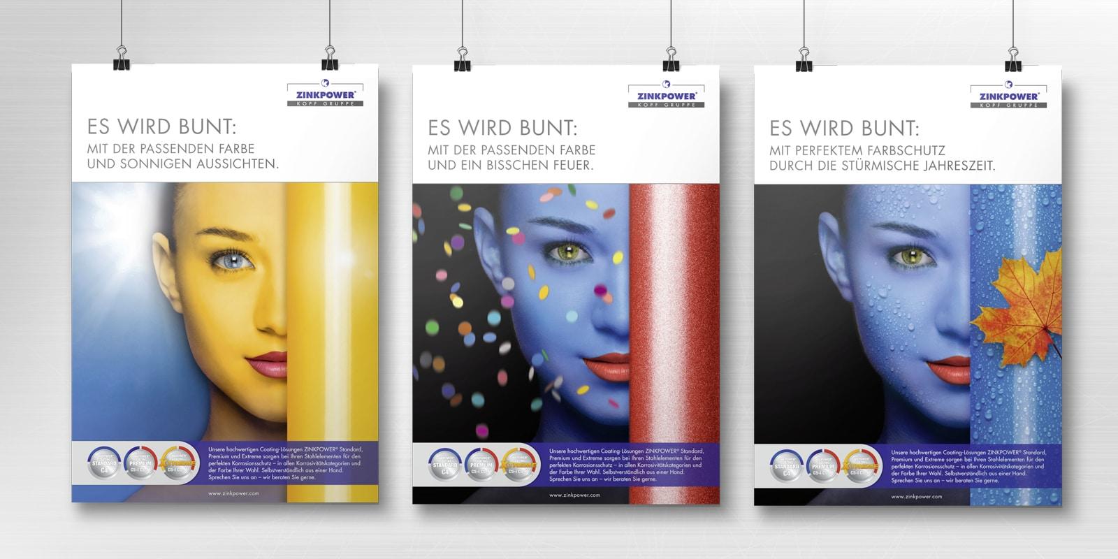 """Zinkpower – Poster """"Es wird bunt"""""""