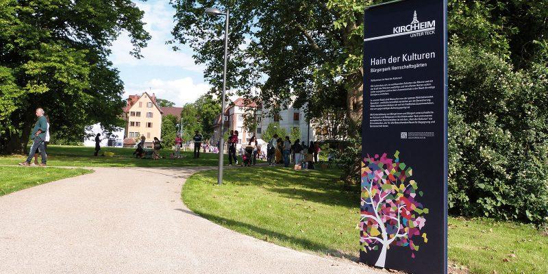 Stadt Kirchheim Bürgerparksstele