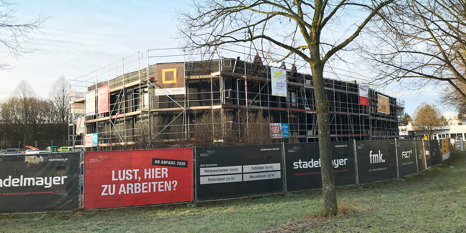 12. Januar 2020 | Letzte Fassadenarbeiten